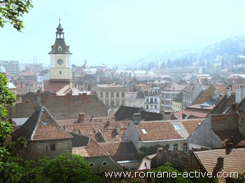 Mountain city Romania Brasov